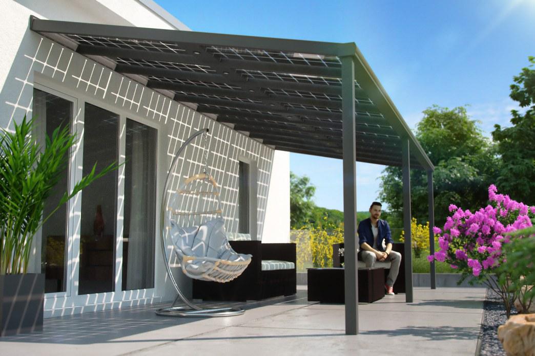 Bild einer Terrasse mit Sitzmöbeln