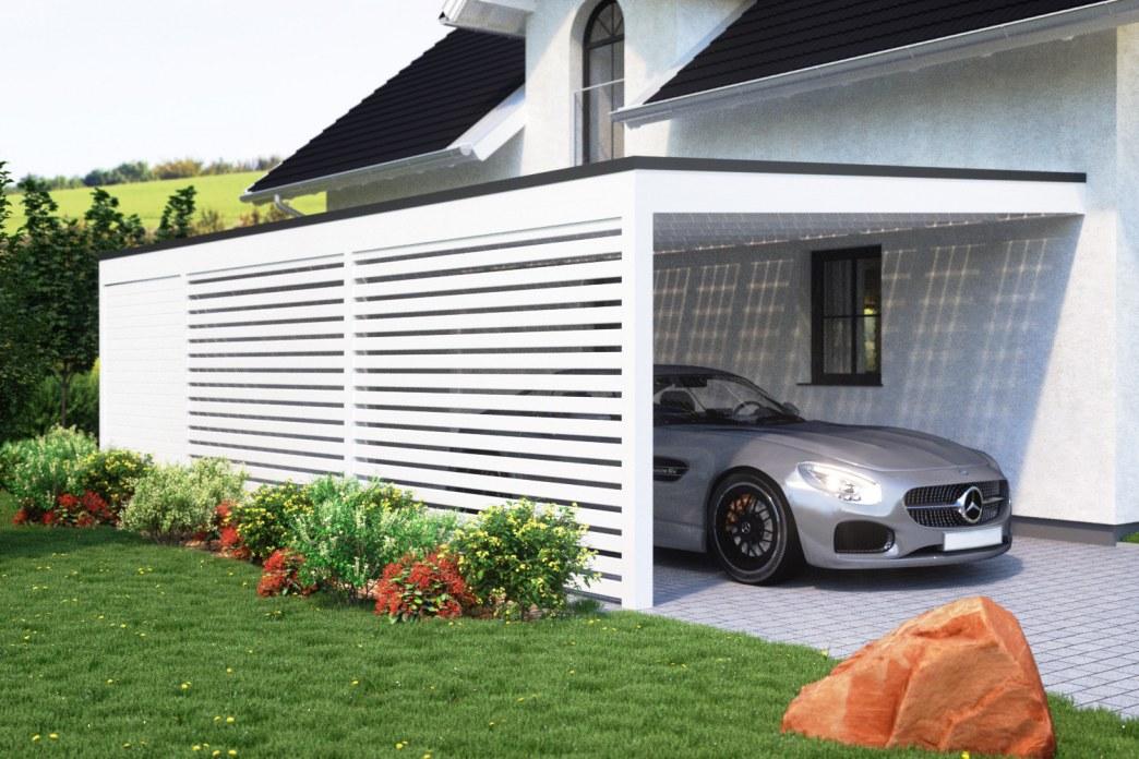 Berühmt Carport-ohne-Kopfband-Geräteraum-Seitenwand-1 | Solarterrassen ZZ26
